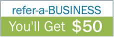 Refer a BUSINESS and we'll give YOU $50 and the CLIENT - 2 months FREE (value $36)